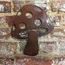 Rusted Metal Toadstool Garden Ornament