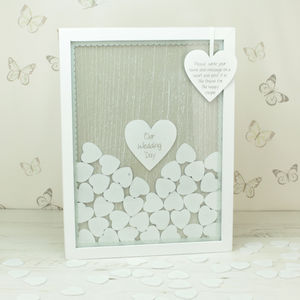 Wedding Drop Top Box Frame Guest Book Alternative