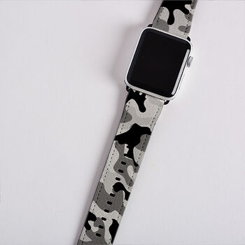 Personalised Camo Apple Watch Strap