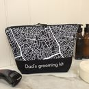 Personalised Abstract Map Design Wash Bag