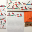 Letter Writing Set Finches