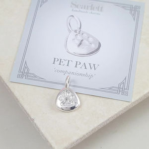 Personalised Silver Paw Print Charm - charm jewellery