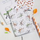 Snowman Pattern Notebook