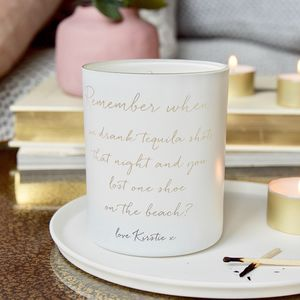 Personalised Remember When Scented Candle - gifts for her