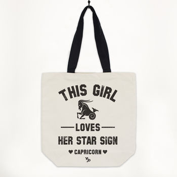 Capricorn Women's Zodiac Star Sign Tote Bag