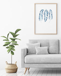 Watercolour Feathers Art Print