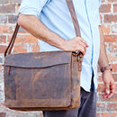 Personalised Buffalo Leather Executive Briefcase
