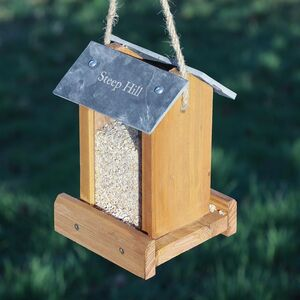 Personalised Hanging Garden Bird Feeder House