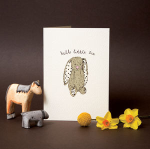 'Hello Little One' New Baby Card - shop by category