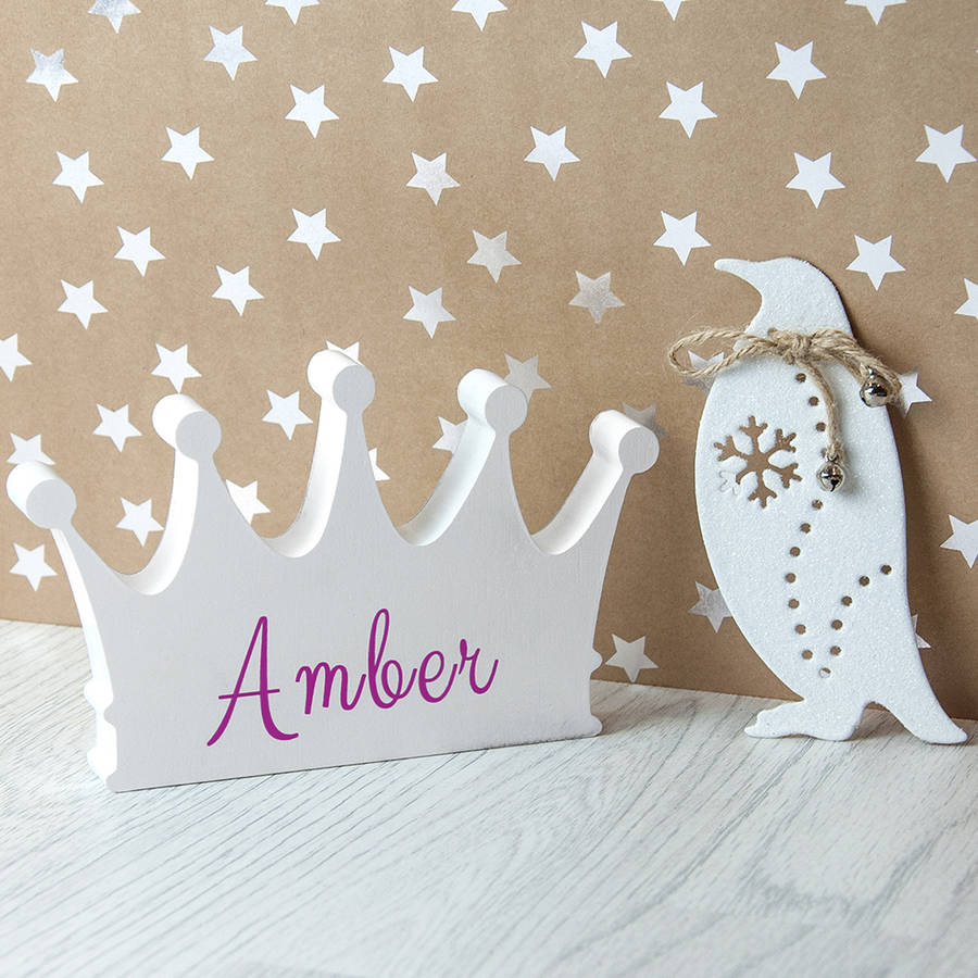 Personalised Princess Crown Decoration
