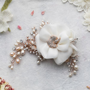 Miriam Pearl And Crystal Rose Gold Headpiece - womens