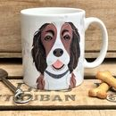 Liver And White Springer Spaniel Dog Mug