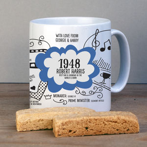 Personalised 1948 Mug For 70th Birthday