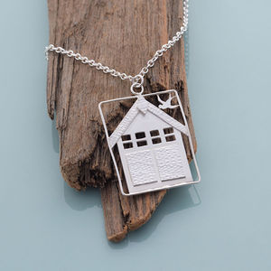 Large Beach Hut Pendant - necklaces & pendants