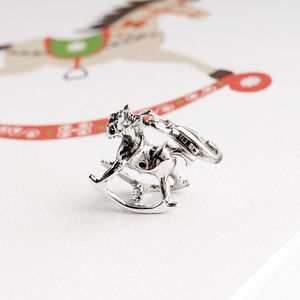 Rocking Horse Charm In Sterling Silver