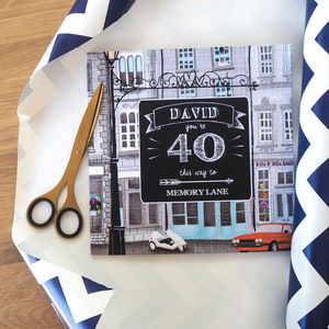 Personalised 40 Th Birthday Book 'Memory Lane'
