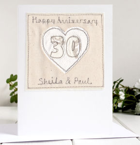 Personalised 30th Wedding Anniversary Card