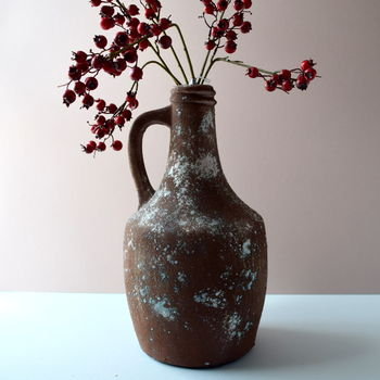Rust Effect Stone Jug