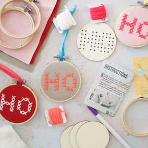 Ho Ho Ho Hoop Kit - new in christmas