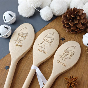 Personalised Elf Spoon - wooden spoons