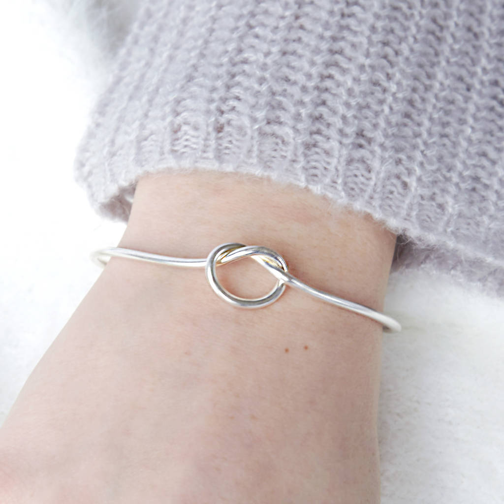 wanderlustandco co products bangle wanderlust silver bangles knot