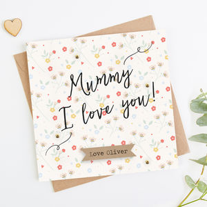 Personalised Mothers Day Card Mummy