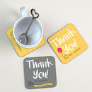 Personalised Coaster Thank You Gift