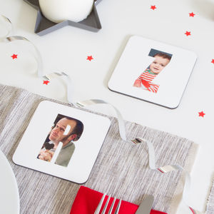 Personalised Photo Letter Coaster By Hello Ruth - for fathers