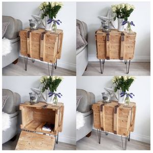 Upcycled Vintage Pine Wooden Trunk Hallway Cupboard - bathroom
