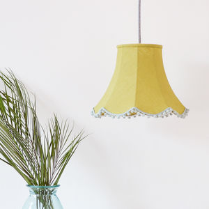 Olive Linen Traditional Lampshade
