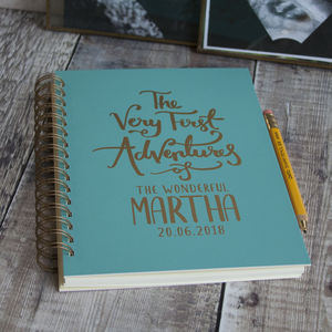 First Adventures New Baby Memory Book - notebooks & journals