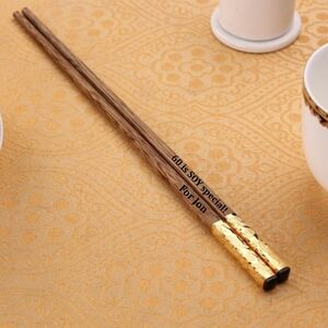 Luxury Personalised Wooden Chopsticks Gift