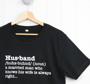 Husband Definition T Shirt