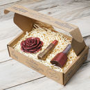 Chocolate Lipstick, Nail Varnish And Rose Gift Box