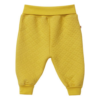 Unisex Mustard Yellow Baby Quilted Trousers