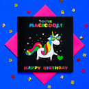 Glitter Happy Birthday Unicorn Greeting Card