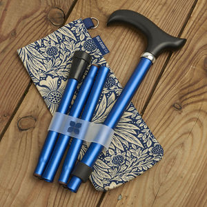 Navy Walking Stick And Marigold Indigo Storage Bag