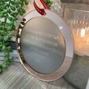 Rose Gold Mirror Lockdown Poem Christmas Decoration