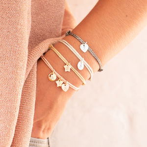 Personalised Initial Charm Sparkle Bracelet - gifts for her