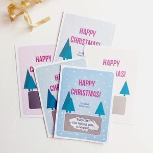 Personalised Happy Christmas Surprise Scratchcard - cards