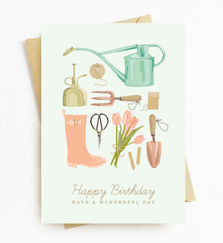Gardener Birthday Card