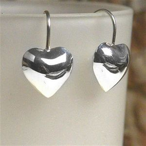 Sterling Silver Large Heart Earrings