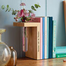 Solid Oak Personalised Bookend Stem Vase
