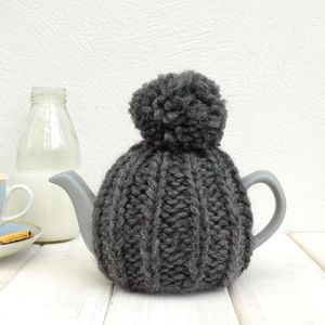 Two Cup Hand Knit Tea Cosy