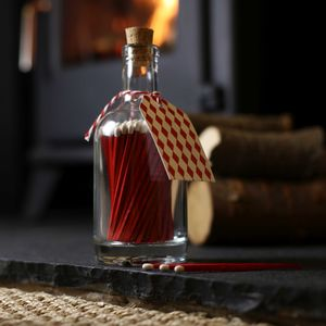 Chrismas Log Burner Long Matches - home accessories