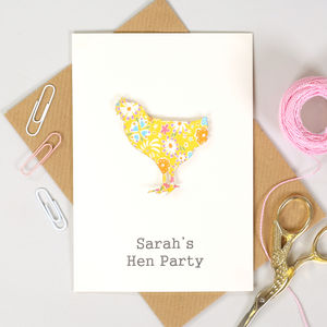 Personalised Chicken Hen Party Card Invitations - invitations