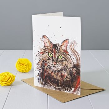 Moggy Art Greeting Card