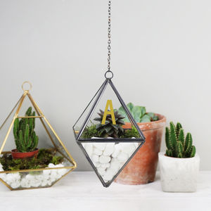 Personalised Black Hanging Terrarium