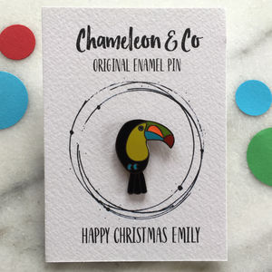 Toucan Enamel Pin - pins & brooches