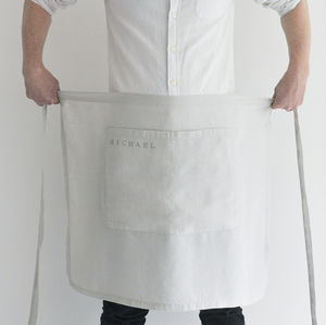 Linen Half Apron - kitchen accessories